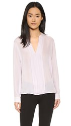 L'agence Lauren Pleated Blouse Lilac