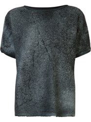 Avant Toi Faded Effect Knitted Top Grey