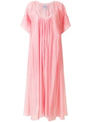 Thierry Colson Shanta Long Dress Pink And Purple