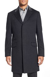 Ted Baker 'Bonsall' Wool Overcoat Charcoal