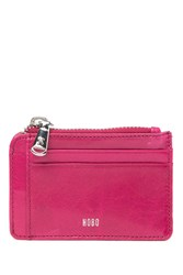 Hobo Kai Leather Card Holder Fuchsia