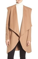 Soia And Kyo Women's Reversible Double Face Hooded Wrap Jacket Camel