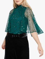 Monsoon Kimberley Embellished Cape Top Teal