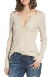 Socialite Thermal Henley Top