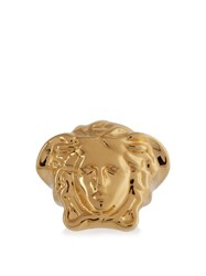 Versace Medusa Signet Ring Yellow Gold