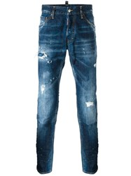 Dsquared2 Cool Guy Paint Splatter Jeans Blue