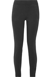Nikelab Essentials French Stretch Cotton Terry Leggings Black