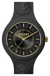 Versus By Versace Women's 'Fire Island' Round Rubber Strap Watch 39Mm