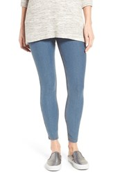 Hue Women's Essential Denim Skimmer Leggings Stone Acid Wash