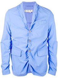 Marni Ruched Blazer Blue