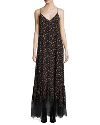 Mcq By Alexander Mcqueen Sleeveless Maxi Slip Dress Vintage Floral