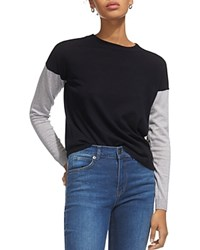 Whistles Color Block Wool Sweater Navy