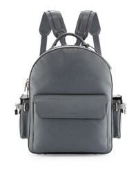 Buscemi Phd Men's Calf Leather Backpack Dark Gray