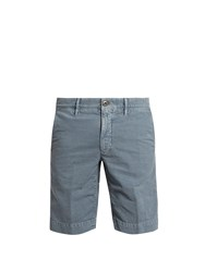 Incotex Slim Fit Cotton Blend Chino Shorts Light Blue