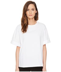 Neil Barrett Jersey Poplin T Shirt White Women's T Shirt