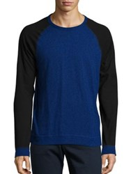 Rag And Bone Colorblock Cotton Blend T Shirt Bright Blue