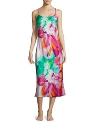 Natori Chantilly Floral Printed Gown Multicolor