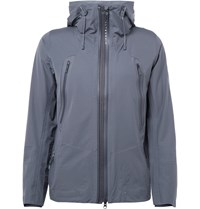 Descente Slim Fit Waterproof Shell Jacket Gray