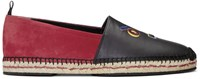 Fendi Black And Red Faces Espadrilles