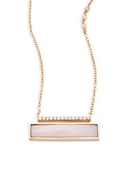 Paige Novick Building Blocks Diamond Pink Opal And 14K Yellow Gold Necklace