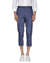 Daniele Alessandrini Trousers 3 4 Length Trousers Men Slate Blue
