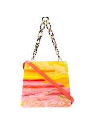 Edie Parker Sunset Structured Tote Multicolour