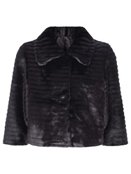 Kaliko Short Faux Fur Jacket Black