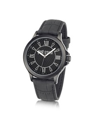 Just Cavalli Just Iron Stainless Steel Men's Watch Black