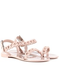 Givenchy Jelly Flat Sandals Neutrals