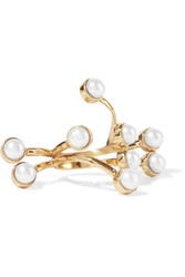 Cornelia Webb Gold Plated Pearl Ring One Size
