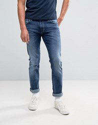 Wrangler Larson Regular Slim Fit Jean Soft Stroke Wash Blue