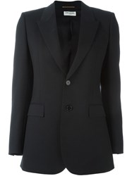Saint Laurent Button Front Blazer Black