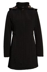 Gallery Hooded Quilted Jacket Black