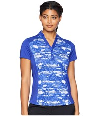 Callaway Tropical Print Top Dazzling Blue Clothing