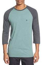 Men's Volcom Raglan Three Quarter Sleeve T Shirt