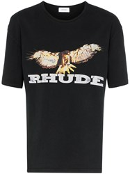 Rhude Eagle Print Cotton T Shirt 60