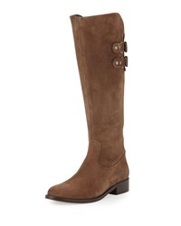 Andre Assous Roma Suede Riding Boot Taupe Brown