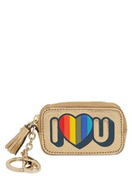 Anya Hindmarch I Love U Leather Key Holder Pouch