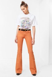 Bdg Mid Rise Stretchy Flare Jean Brown
