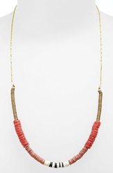 Maison Scotch Beaded Necklace Red