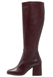 Whistles Clarion Boots Burgundy Dark Red