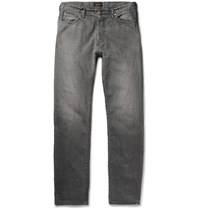 Chimala Slim Fit Distressed Selvedge Denim Jeans Gray