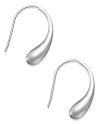 Studio Silver Sterling Silver Earrings Teardrop J Hoop Earrings