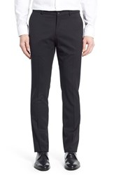 Men's Ballin Regular Fit Flat Front Trousers Black
