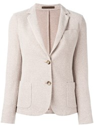 Eleventy Blazer Jacket With Pockets Nude Neutrals