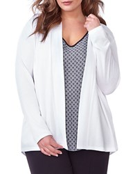 Addition Elle Michel Studio Open Front Cardigan White