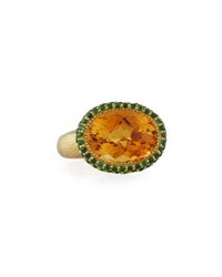 Alex Soldier Citrine And Tsavorite Ring In 18K Gold