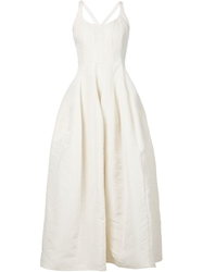 Brock Collection Cross Back Dress White