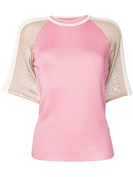 Drome Flamingo Knitted Top Pink