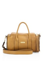 Milly Astor Leather Duffle Bag Caramel